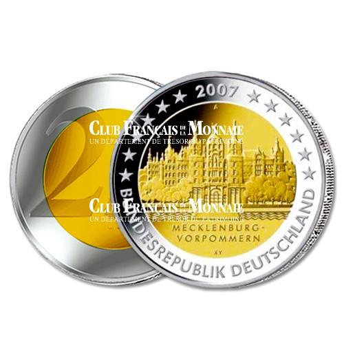 2007 - Allemagne - 2 Euros commémorative Château de Schwerin à Mecklembourg