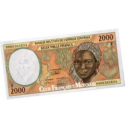 Billet de 2000 Francs d'Afrique Centrale