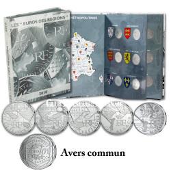 Livre-écrin complet 26 x 10 Euro Argent des Régions 2010 + 10 Euro Mayotte 2011