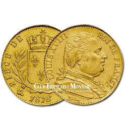 20 Frs Or Louis XVIII Buste Habillé 1814L