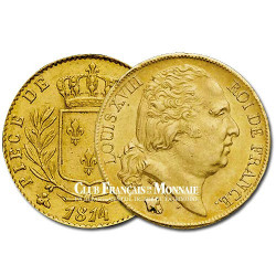 20 Frs Or Louis XVIII Buste Nu 1817W