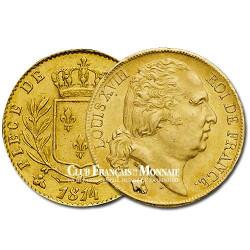 20 Frs Or Louis XVIII Buste Nu 1818W