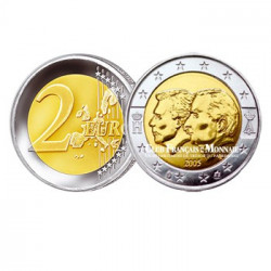 2005 - Belgique - 2 Euros commémorative Grand Duc Henri et Albert II