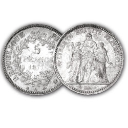 5 Francs Argent Hercule 1877