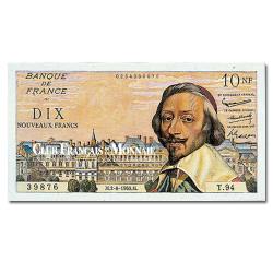 Billet de 10 Nouveaux Francs Richelieu