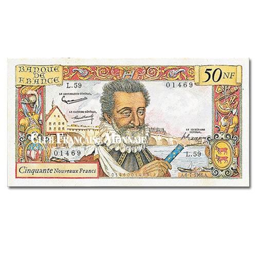 Billet de 50 Nouveaux Francs Henri IV