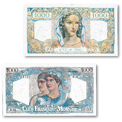 Billet de 1000 Francs Minerve et Hercule
