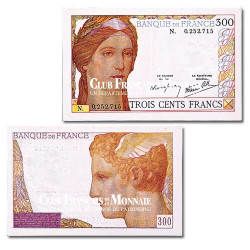 Billet de 300 Francs Cérès 1938 TTB