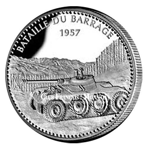 ALGERIE - 1954-62 - Bataille du barrage - Argent BE