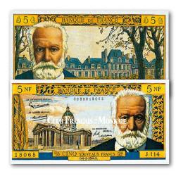 Billet de 5 Nouveaux Francs Victor Hugo 1959-1965 TB