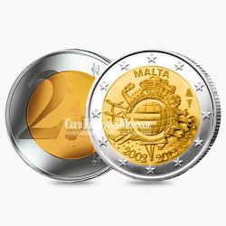 2 Euro 10 ans de l'Euro - Malte 2012