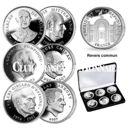 Coffret des 6 Présidents de la Ve République 1959-2012