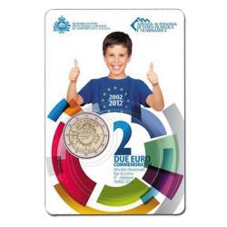 2 Euro 10 ans de l'Euro BU - Saint-Marin 2012
