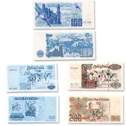 Lot de 3 billets Algérie