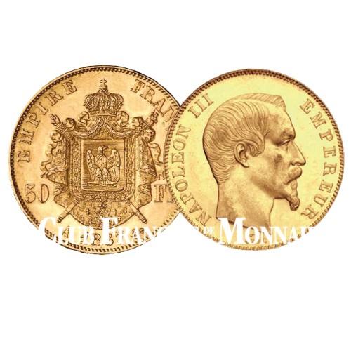 50 Francs Or Napoléon III 1855