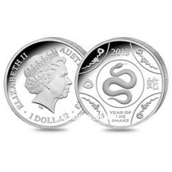 1 Dollar Argent Année du Serpent BE - Australie 2013