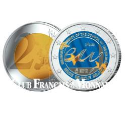 2 Euro Présidence du Conseil Européen colorisée - Belgique 2010