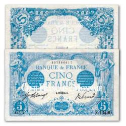 Billet de 5 Francs Bleu 1912 – 1917 SUP+/SPL