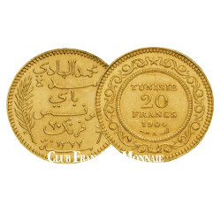 20 Francs Or - Tunisie 1881-1928
