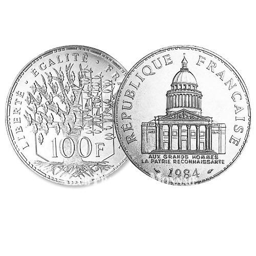 100 Francs Argent Panthéon - France 1984