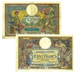 Billet de 100 Francs Luc Olivier Merson - France 1914-1918