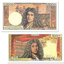 Billet de 500 Nouveaux Francs Molière