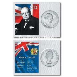 1 Couronne Hommage à Winston Churchill - Grande-Bretagne 1965