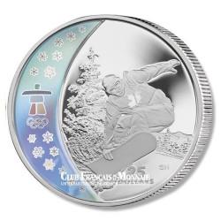 Souvenir des Jeux Olympiques Vancouver 2010 - 25$ Argent Surf Canada 2010