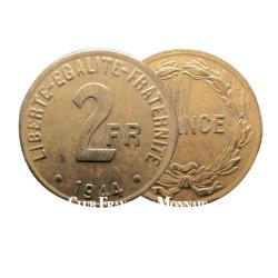 2 Francs Liberté Égalité Fraternité - France 1944