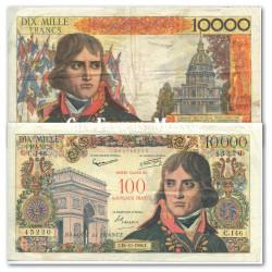 Billet de 10 000 Francs Bonaparte Surchargé 100 NF - France 1958