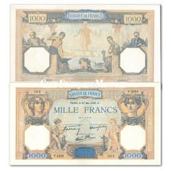 Billet de 1000 Francs Cérès et Mercure - France 1937-1940