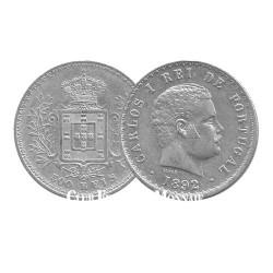 500 Reis Argent Charles Ier de Portugal - Portugal 1891-1908