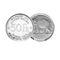 50 Francs Argent Eléphant - Congo Belge 1944