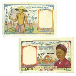 Billet de 1 Piastre Banque d'Indochine