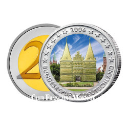 2 Euro Holstentor colorisée - Allemagne 2006