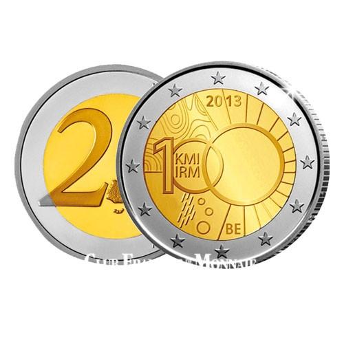2€ 100e anniversaire de l'Institut Royal Météorologique - Belgique 2013