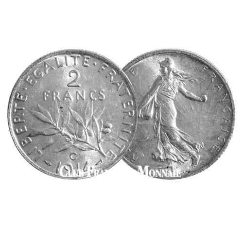 2 Francs Argent Semeuse - France 1914C
