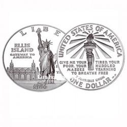 USA - 1986 - 1$ Argent 100 ans de la Statue de la Liberté