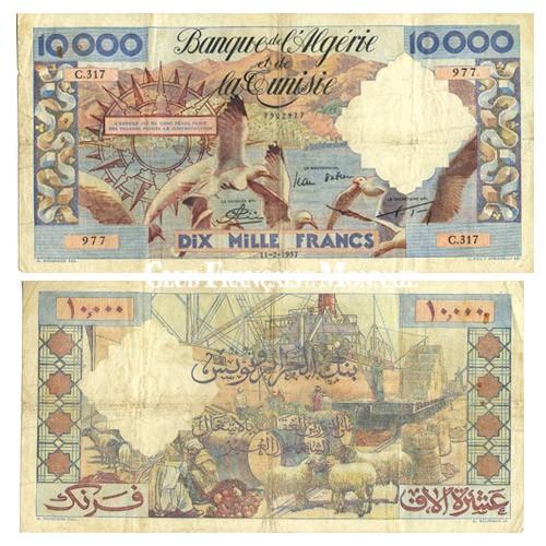 Billet de 10 000 Francs TB/TTB - Algérie