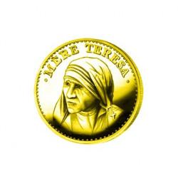 Mère Teresa en argent doré