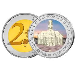 2 Euro Colorisée La Sarre - Allemagne 2009