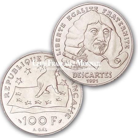 1991 - 100 Francs Argent Descartes
