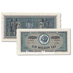 Billet de 1 Million de Lei Roumanie 1947 - Trajan et Décebale