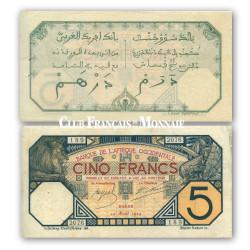 Billet de 5 Francs Dakar 1916