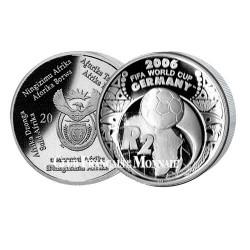 2005 -  2 RAND ARGENT BE AFRIQUE DU SUD COUPE DU MONDE DE FOOTBALL 2006