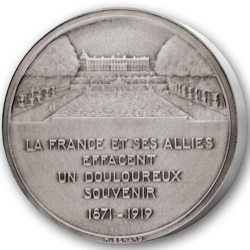 Le Traité de Versailles - Bronze argenté