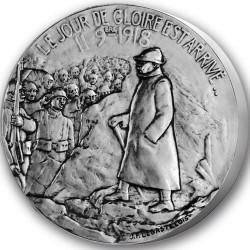 Le Jour de Gloire - 11 novembre 1918 - Bronze argenté