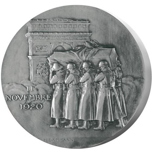 Hommage soldat inconnu - Bronze argenté