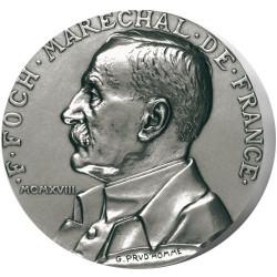 Maréchal Foch - Bronze argenté