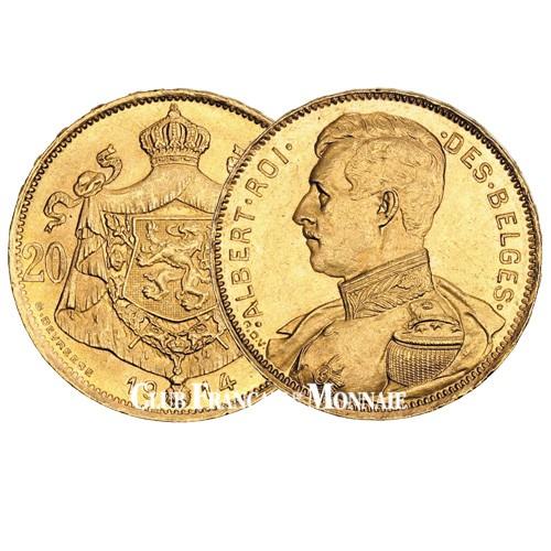 20 Francs Or Belgique 1914 - Albert 1er